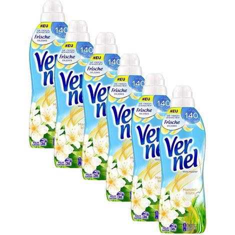 Vernel Weichspülerkonzentrat 6er Pack Mandelblüte 6x36 Waschladungen Weichspüler