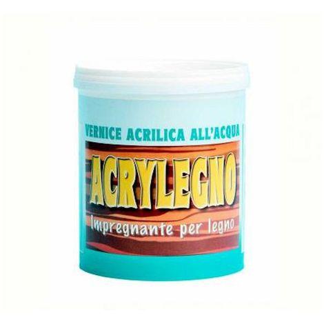 Vernice acrilica all'acqua colorata Acrylegno Impregnante cerato per legno a vista - 750 ml