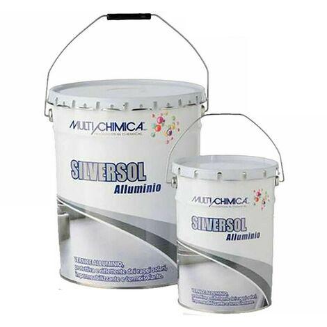 """main image of """"VERNICE Alluminio SILVERSOL 20 LT IMPERMEABILIZZANTE per manti bitumosi e tetti"""""""