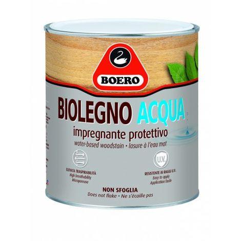 Vernice Biolegno acqua New Boero Noce chiaro,0750 Lt