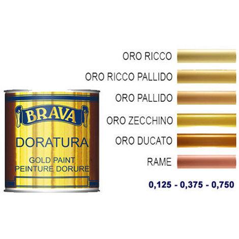 Vernice doratura rame naturale a pennello ml 125 brava