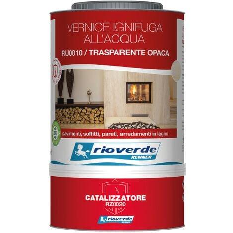 """main image of """"Vernice ignifuga all'acqua classe 1 trasparente ru0010-rz0020 da 3 lt rio verde"""""""