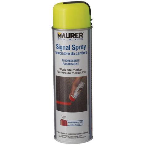 """main image of """"Tracciatore Spray Colori Fluorescenti Cantiere Lavori Maurer Plus 500 ml."""""""