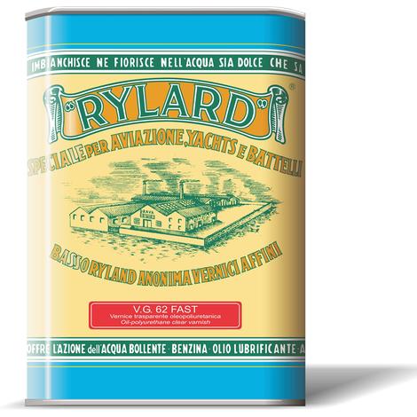 Vernice VG 62 Rylard Fast Lucida litri 2,5 per legno Brava