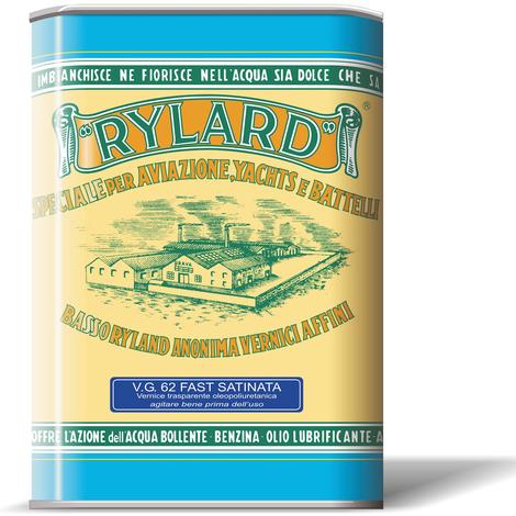 Vernice vg 62 rylard fast satinata trasparente oleopoliuretanica litri 2,5