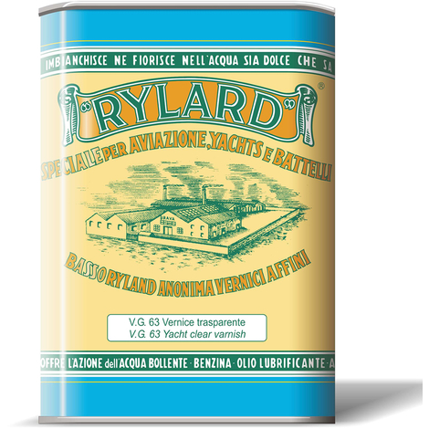 Vernice vg 63 satinata trasparente brava rylard oleofenolica litri 2,5 per nauti legno