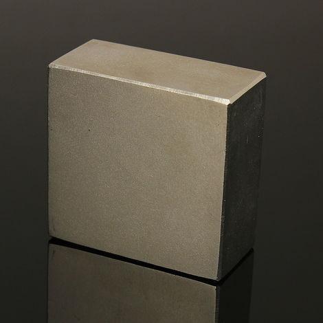 """Vernickelung N50 Neodym Magnet NdFeB für Kühlschrank 2x2x1 """"Magnetblock für Seltene Erden 50mmx50mmx25mm"""