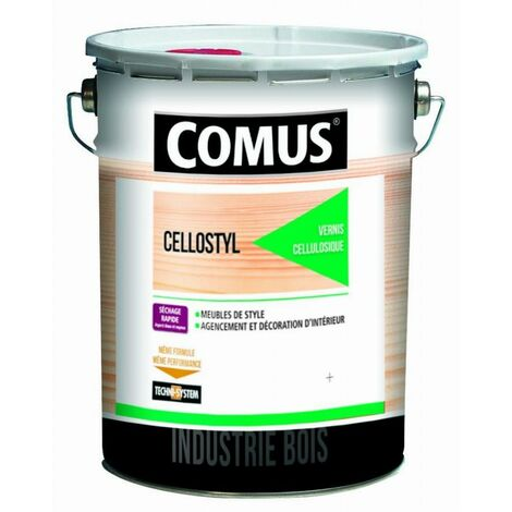 Vernis de finition bi-couche 2041 Cellulostyl COMUS - Sat40 - 5 L - 7748