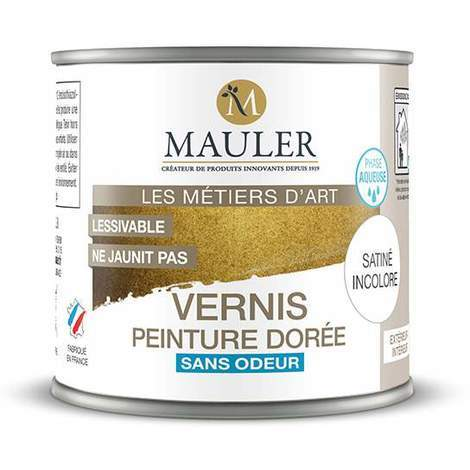 Vernis de protection pour peinture métallique Mauler 0,5L : intérieur et extérieur, sans odeur