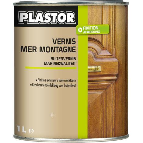 """main image of """"Vernis extérieur polyuréthanne Mer et Montagne Plastor : pour la protection des bois soumis à des expositions difficiles"""""""