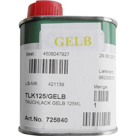 Vernis jaune pour ampoules bouteille de 125 ml TLK125/GELB D53617