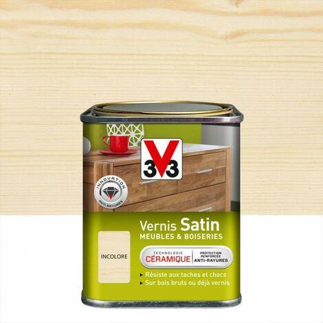 Vernis meuble et objet V33, incolore satiné, 0.25l