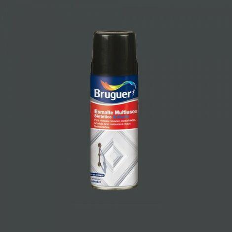 Vernis multi-usage spray brillant, gris intermédiaire, 0.4l bruguer