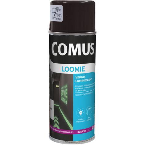 Vernis photoluminescent translucide pour la sécurité et la décoration : Comus Loomie aérosol 400ml
