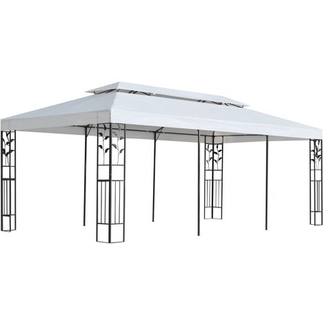 Vernita 3m x 6m Steel Patio Gazebo by Dakota Fields - White