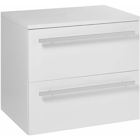 Verona 2 Drawer Wall Hung Vanity Unit 750mm Wide - White