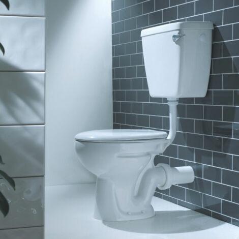 Verona Advantage Low Level Toilet WC Lever Cistern - Soft Close Seat