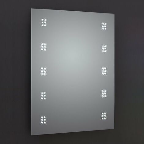 Verona Alpha LED Bathroom Mirror with Demister Pad and Shaver Socket 700mm H x 500mm W