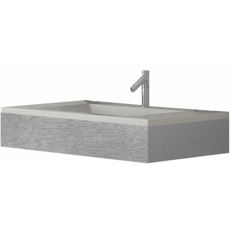 Verona Altai Wall Hung Basin with Grey Ash Frame 800mm Wide - 1 Tap Hole