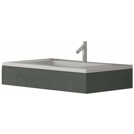 Verona Altai Wall Hung Basin with Urban Grey Frame 800mm Wide - 1 Tap Hole