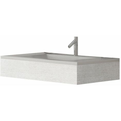 Verona Altai Wall Hung Basin with White Ash Frame 800mm Wide - 1 Tap Hole