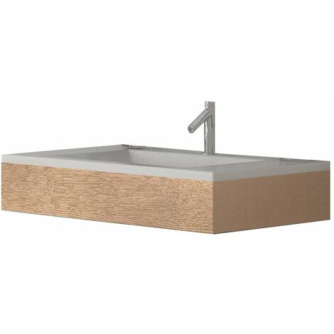 Verona Altai Wall Hung Basin with Wildwood Frame 800mm Wide - 1 Tap Hole