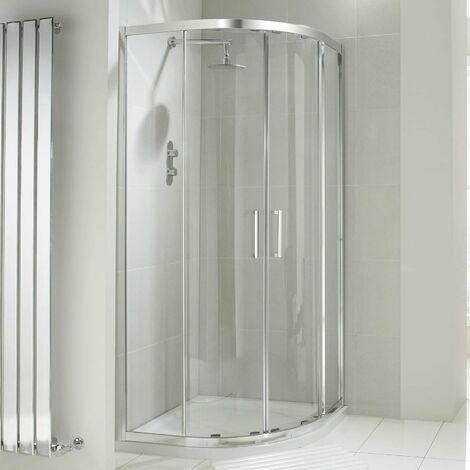 Verona Aquaglass+ Drift Offset Quadrant Shower Enclosure 1200mm x 800mm - 8mm Glass