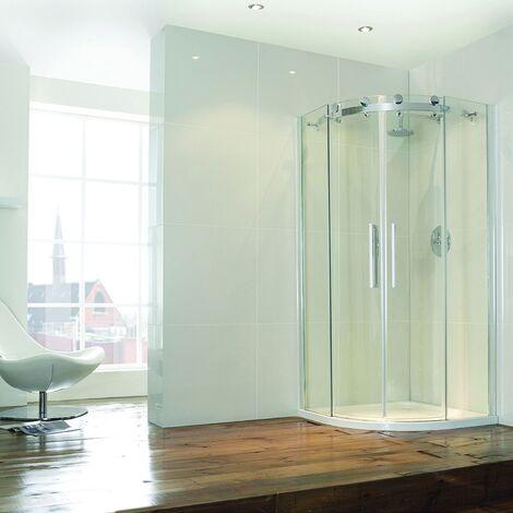 Verona Aquaglass+ Frameless Offset Quadrant 2 Door Shower Enclosure 1200mm x 800mm - 8mm Glass