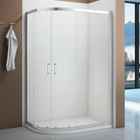 Verona Aquaglass Intro Offset Quadrant Shower Enclosure 900mm x 760mm with Shower Tray Left Handed