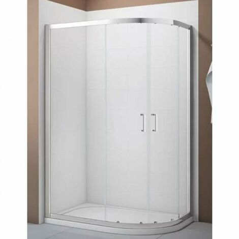 Verona Aquaglass Intro Offset Quadrant Shower Enclosure 900mm x 760mm with Shower Tray Right Handed