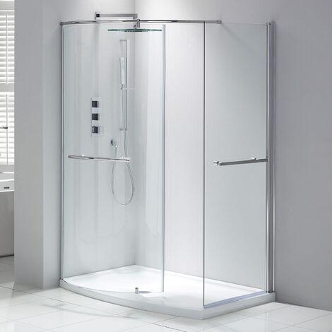 Verona Aquaglass Purity Closing Walk-In Shower Enclosure 1350mm x 900mm - 6mm Glass