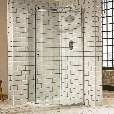 Verona Aquaglass+ Sphere Offset Quadrant 1 Door Shower Enclosure 1000mm x 800mm - Left Handed