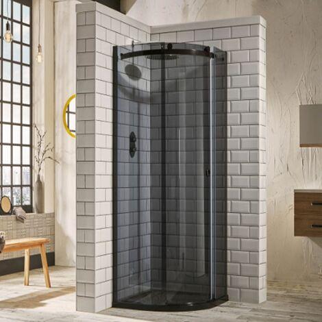 Verona Aquaglass+ Sphere Offset Quadrant 1 Door Shower Enclosure 1200mm x 800mm - RH Smoked Glass