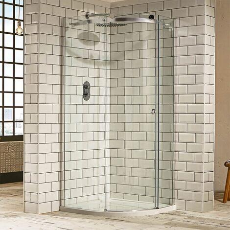 Verona Aquaglass+ Sphere Quadrant 1 Door Shower Enclosure 1000mm x 1000mm - 8mm Clear Glass