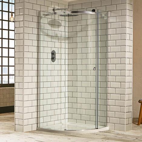 Verona Aquaglass+ Sphere Quadrant 1 Door Shower Enclosure 900mm x 900mm - 8mm Clear Glass