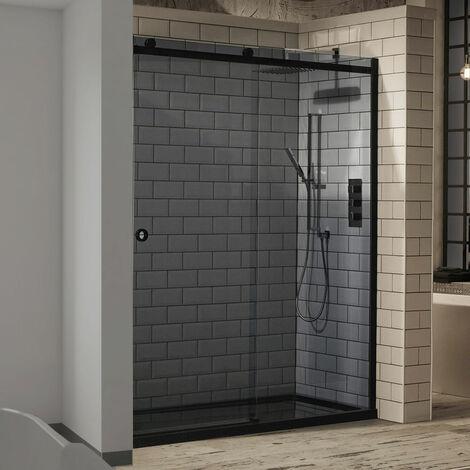 Verona Aquaglass+ Sphere Tinted Sliding Shower Door 1600mm Wide - 8mm Glass