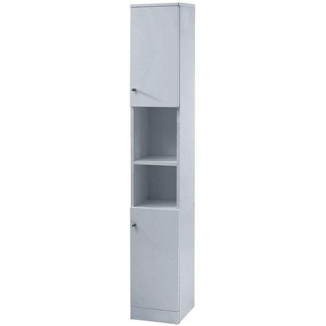 Verona Aquapure Tall Tower Unit 300mm Wide - Pearl Grey