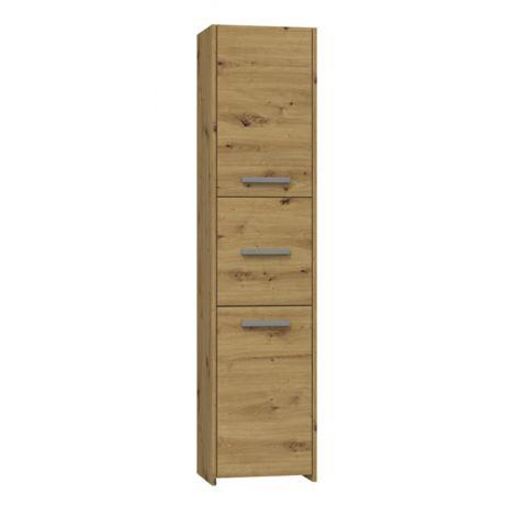 VERONA - Armoire de salle de bains - 170x40x30 cm - Meuble colonne de rangement salle de bains toilette - Chêne