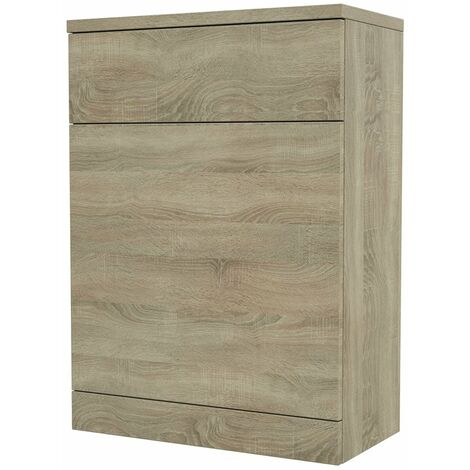 Verona Back to Wall WC Unit 500mm Wide - Bordeaux Oak
