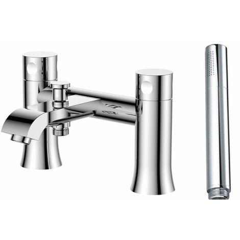 Verona Basque Bath Shower Mixer Tap with Shower Handset - Chrome