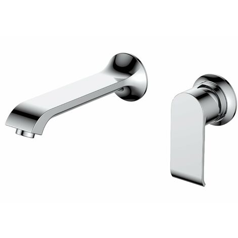 Verona Basque Wall Mounted Basin Mixer Tap without Waste - Chrome