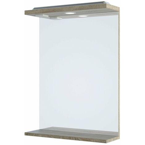 Verona Bathroom Mirror 750mm H x 550mm W - Bordeaux Oak