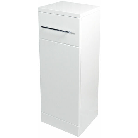 Verona Bianco Laundry Storage Unit 300mm Wide - Gloss White
