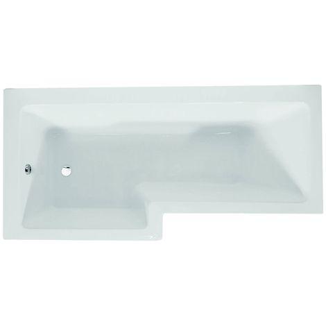 Verona Blok L-Shaped Shower Bath 1700mm x 700mm/850mm - Left Handed