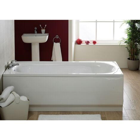Verona Caymen Single Ended Rectangular Bath 1600mm x 700mm - 0 Tap Hole