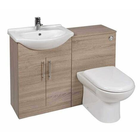 Verona Classic Combination Unit with 600mm WC Unit - Bordeaux Oak