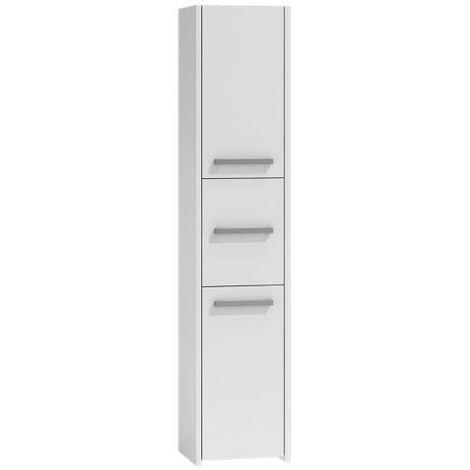 VERONA | Colonne de salle de bain 170x40x30 | Meuble salle de bain | Rangement salle de bain | Armoire Toilette | Colonne rangement | blanc - blanc
