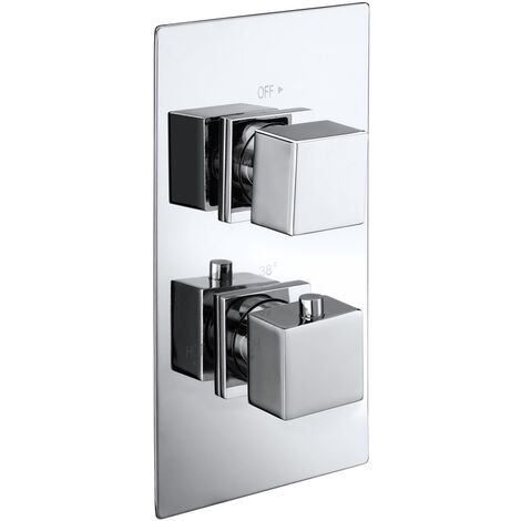 """main image of """"Verona Cube Concealed Thermostatic Shower Valve Dual Handle - Chrome"""""""