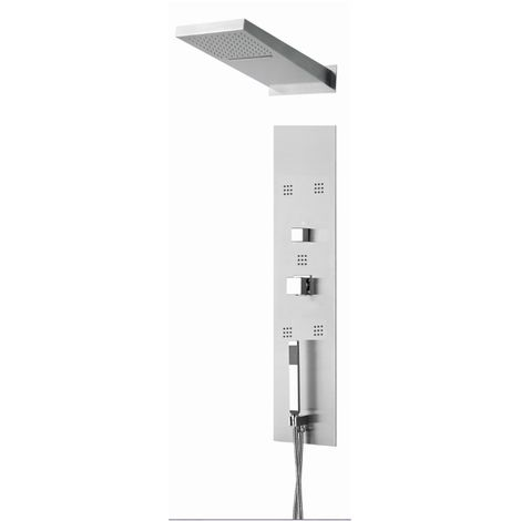 Verona Cubix Thermostatic Shower Panel 5 Built-in Body Jets with Shower Hand and Head