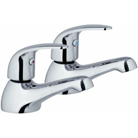 Verona Design Basin Taps Pair Chrome